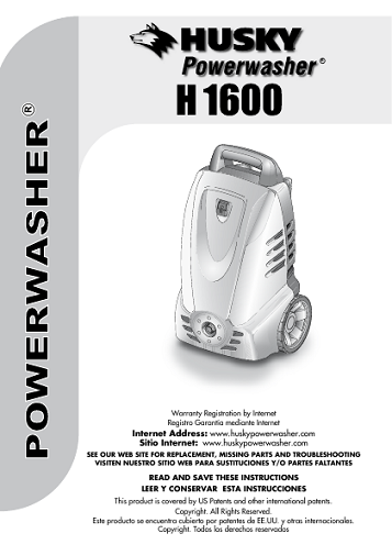 Husky H1600 Need An Owners Manual
