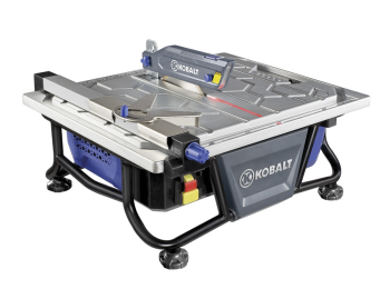 Manual For The Kobalt Model Kb7004 0325791 7 Tabletop Wet Tile Saw Includes Trouble Shooting Operation Maintenance And Safety Instructions With Parts